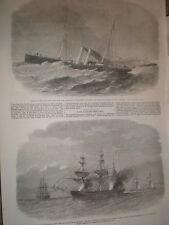 CHANNEL RACE Dover Mail impératrice SS Atalanta & USSS Alabama V CSS TEXAN STAR 1864