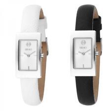 Orologio Donna LIU JO Luxury DIANA Vera Pelle Nero Bianco Classico NEW