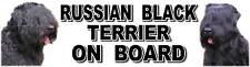 RUSSIAN BLACK TERRIER ON BOARD Car Sticker by Starprint