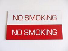 Engraved No Smoking Warning Sign - 150mm x 40mm - Pub, Restaurant, Office
