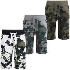 Kids Camo Summer Shorts Boys Jersey Bottoms Elasticated Waist Pants 3-14 Years
