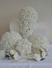 Wedding  flowers bouquet buttonhole corsage posy diamante bridesmaid bride gift