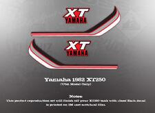 YAMAHA 1982 XT250 TANK DECALS USA MODEL ONLY