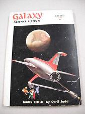 """GALAXY SF"" 5/51 VG-F! `CYRIL JUDD`, ISAAC ASIMOV, KNIGHT! BONESTELL COVER!"