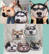 Cool & Cute 4 Sizes 3D Dog Face Print Pillow Cushion Plush Toys Throw Home Decor