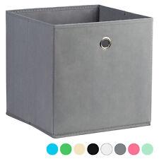 Hartleys Tiroir/Boite/Panier/Bac Pliante Tissu Cube/Carré Rangement Etagère 28cm