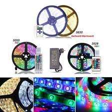 LED Stripe Streifen RGB Warmweiß Kaltweiß Mehrfarbig 5m 10m Leiste Lichterkette