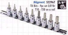 Signet 3/8 Sq Disco Torx Set T10-T 50 en el ferrocarril.