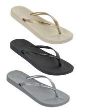 IPANEMA ANATOMICA TAN FEM chanclas sandalias de mujer cuña zapatillas zuecos mar