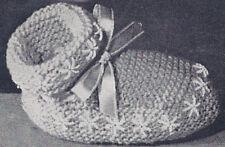 Vintage Knitting PATTERN Baby Booties Infant Socks Snow