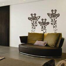 Giraffe Family Wall Decal Inspired Animal Vinyl Living Room Removable Art Decor
