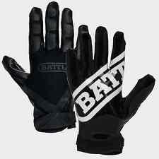 Battle Sports Ultra-Stick Football Receivers Gloves (PAIR) Black/Black