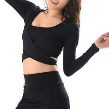 Belleap Rash Guard Womens Crop Top Long Sleeve Swimwear UV Protection 0531