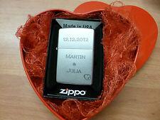 Zippo Feuerzeug mit persönlicher Gravur Datum und Namen  13002
