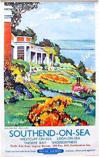 Vintage British Rail Southend on Sea Railway Poster A3 Print