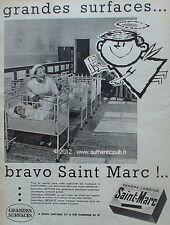 PUBLICITE CENDRE LESSIVE SAINT MARC MATERNITE BEBE ANGE 1960 FRENCH ADVERT PUB