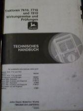 John Deere Officina Manuale TRATTORI 7610 7710 7810