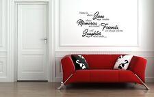 HOME Love Citazione Muro ARTE Sticker Arredamento Salotto Sala da pranzo cucina fai da te