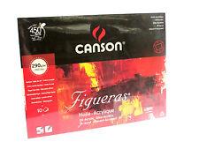 CANSON FIGUERAS - VARIE DIMENS. - 290 g/mq - BLOCCO 10 FG - CARTA TELATA X OLIO