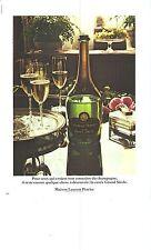 """PUBLICITE 1973   LAURENT PERRIER champagne cuvée """" Grand siècle"""""""