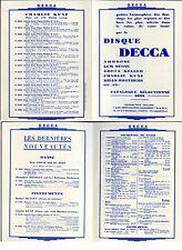 Publicité Catalogue disques Decca 78 tours Ambrose Lewstone Gretta Keller 1938