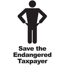 Save Taxpayer T-shirt conservative S M L XL 2X 3X 4X