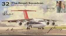 AV600 32 Royal Squadron FDC signed RAF Northolt COs AVM Gardiner, Morley & Bunn