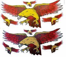Aufkleber Sticker XXL Adler 70x31 cm, Eagle Indianer Auto Weißkopfseeadler groß