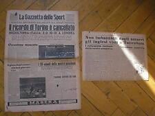 INGHILTERRA ITALIA 2-0 A LONDRA GAZZETTA DELLO SPORT 1/12/1949