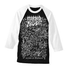 """Morbid Angel """"gli altari della follia'S Baseball T shirt-UFFICIALE NUOVO"""