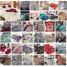 Bettwäsche 220x240 cm Bettgarnitur Bettbezug Baumwolle Kissen Decke 6 tlg VAR #6