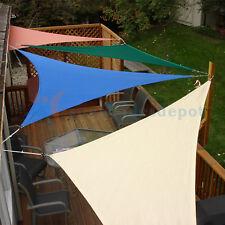Sun Shade Sail triangle Permeable Canopy Brown Beige Blue Red Custom Size Availa