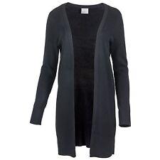 VERO MODA Damen Cardigan Stirckjacke gerippter Long-Open-Cardigan Übergangsjacke