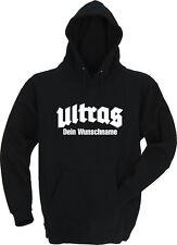 ULTRAS Fußball Fan Club - Ortsname Wunsch - Kapu / Hoodie - Gr. S bis XXXL