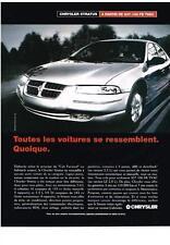 PUBLICITE ADVERTISING  1996    CHRYSLER     la STRATUS  cabriolet
