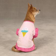Dog T-Shirt Tee Ice Cream Cone Pink XXS XS SM MED LG XL
