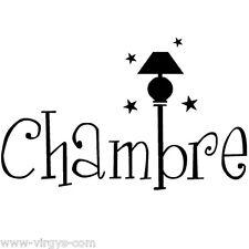 Sticker Chambre 15x24cm à 30x48cm, Tailles et Coloris Divers (CHAMB001)