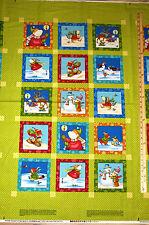 """Winter Parade Penguin Polar Bear Christmas Benartex Fabric Panel 23""""  #02712"""