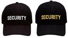 Black Security Embroidered Baseball Uniform Cap Ballcap Hat Rothco 9282