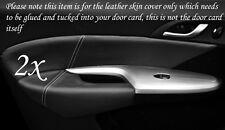 Punto blanco encaja Honda Civic 06-12 2x Frontal Puerta Tarjeta Ribete Cuero cubre sólo