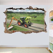 Trattore stradale Tagliasiepi Adesivi Murali 3D Arte Murale Camera Ufficio Negozio Decor TS0