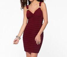 NWT Cache SEXY Maroon Evening Dress  8 10  12   M,  L