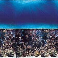 Vepotek Aquarium background double side (Deep Seabed/Coral Rock Fresh/salt water