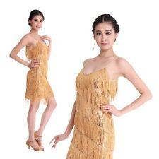 Slim Lady dress Evening Party Dance Latin Bling Sequin Fringe Dress size XS S M