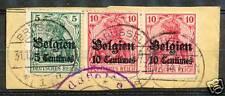 Duitse bezetting van België briefhoekje met nrs. 2,3,3