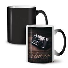 Vintage foto camera nuevo cambio de color té café taza 11 OZ (approx. 311.84 g) | wellcoda