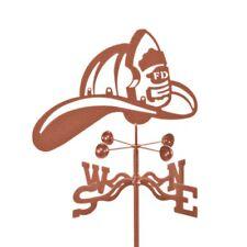 Fire Department Helmet, FD, Firefighter Weathervane Vane - w/choice of Mount