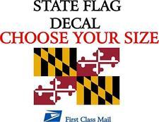 MARYLAND STATE FLAG, STICKER, DECAL, 5 YR VINYL