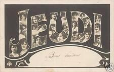 CARTE PHOTO 1900 - JEUDI - MONTAGE DE VISAGES DE FEMMES