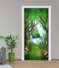 3D Mushroom Forest 57 Door Wall Mural Photo Wall Sticker Decal AJ WALLPAPER CA